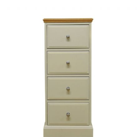 Davenport Painted 4 Drawer Narrow Chest